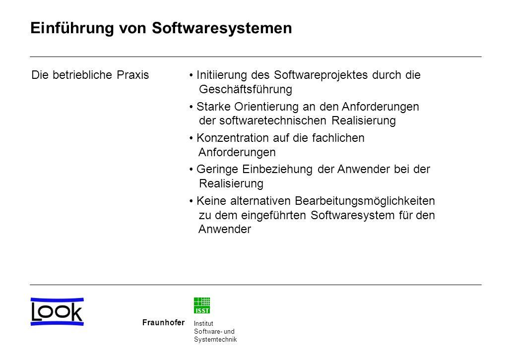 Einführung von Softwaresystemen