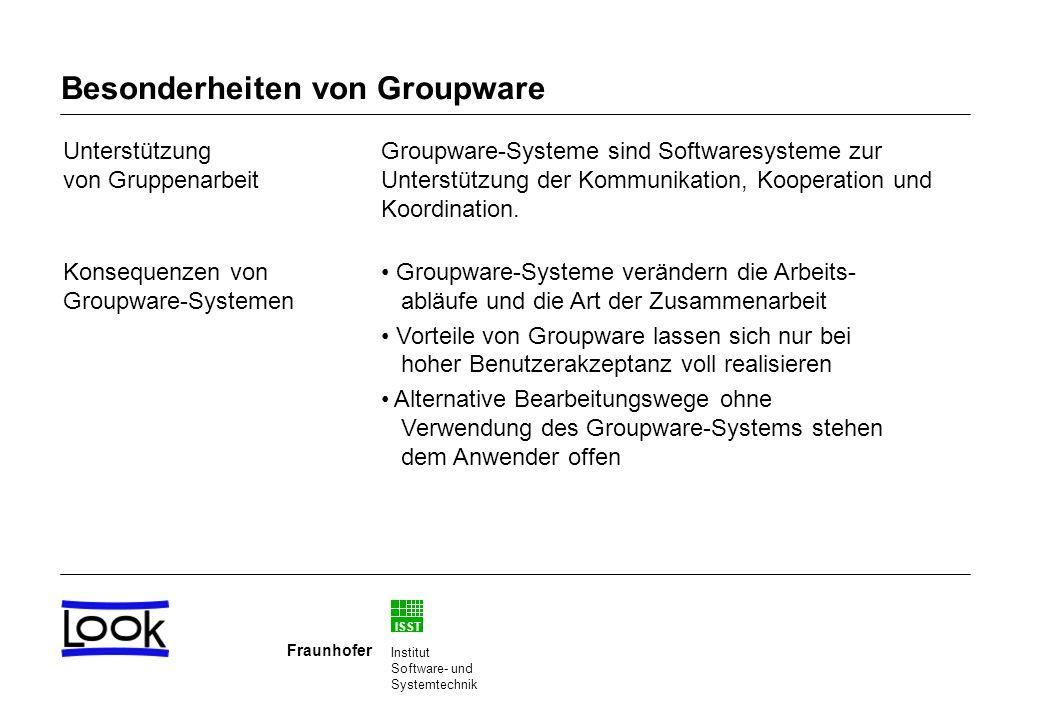 Besonderheiten von Groupware