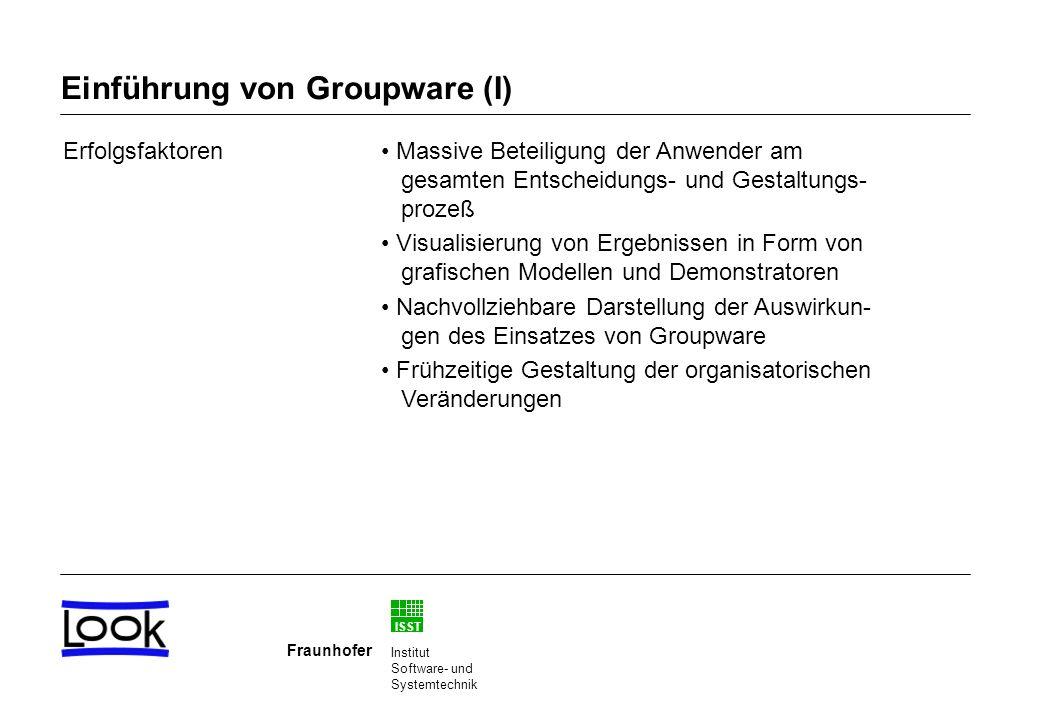 Einführung von Groupware (I)