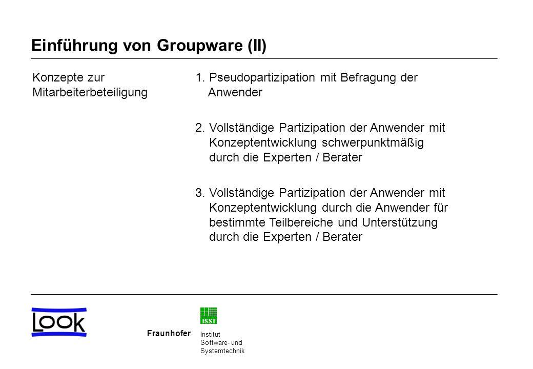 Einführung von Groupware (II)