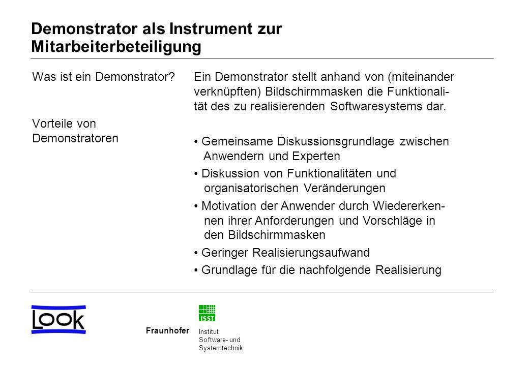 Demonstrator als Instrument zur Mitarbeiterbeteiligung
