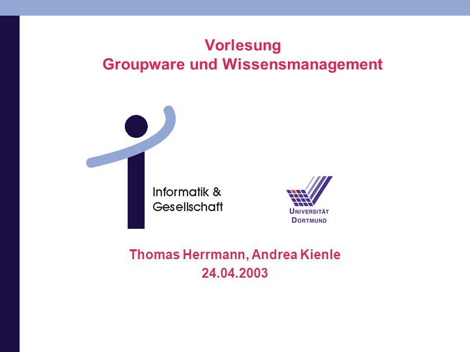 Vorlesung Groupware und Wissensmanagement