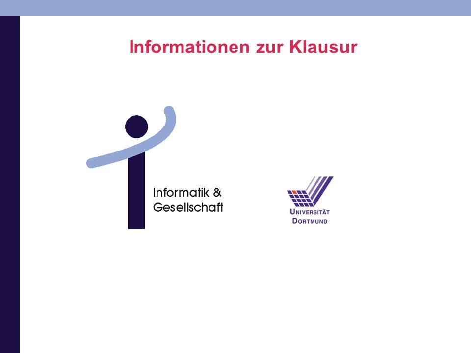 Informationen zur Klausur