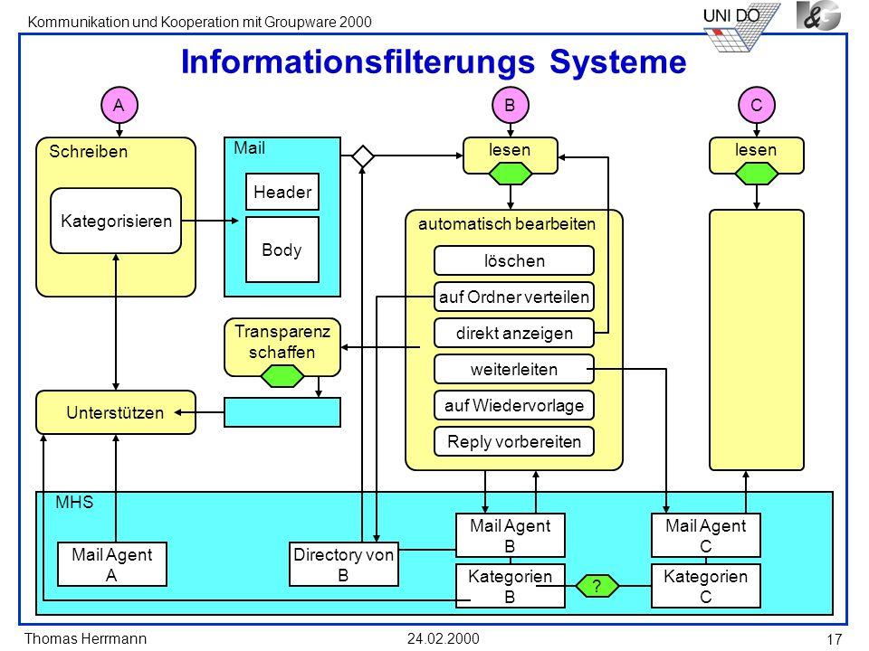 Informationsfilterungs Systeme
