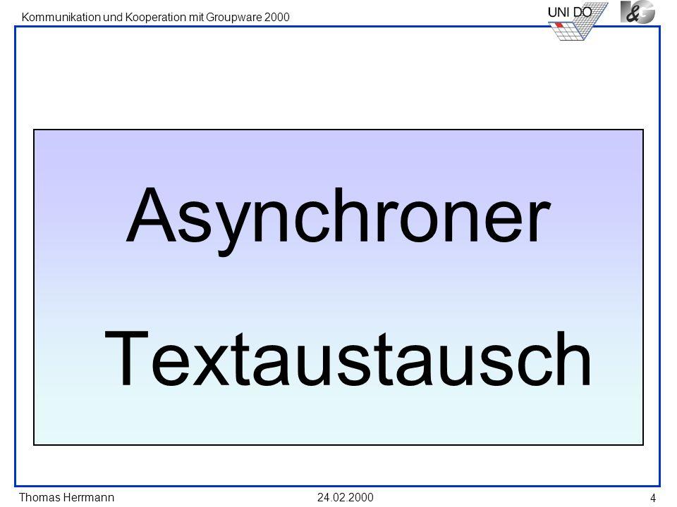 Asynchroner Textaustausch