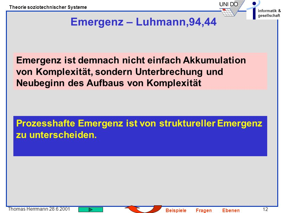 Emergenz – Luhmann,94,44