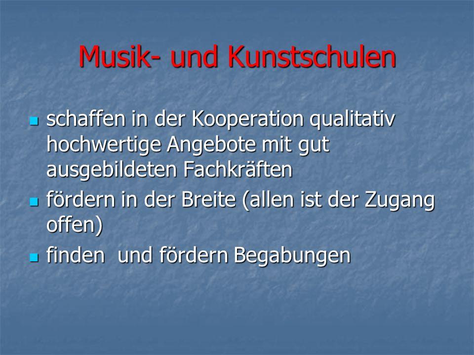 Musik- und Kunstschulen