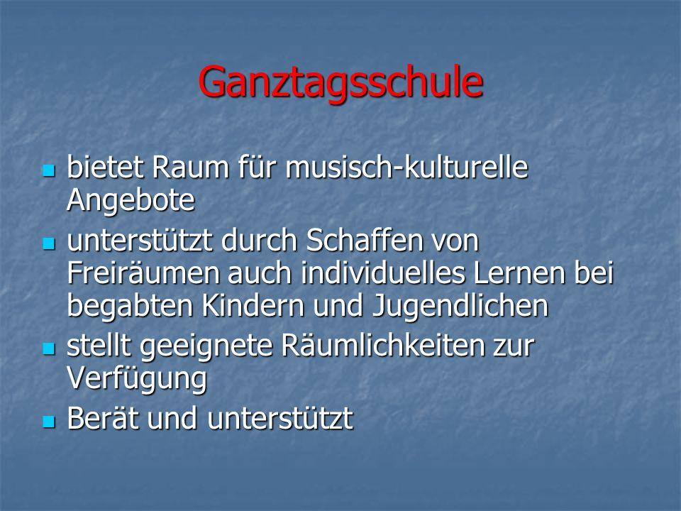 Ganztagsschule bietet Raum für musisch-kulturelle Angebote
