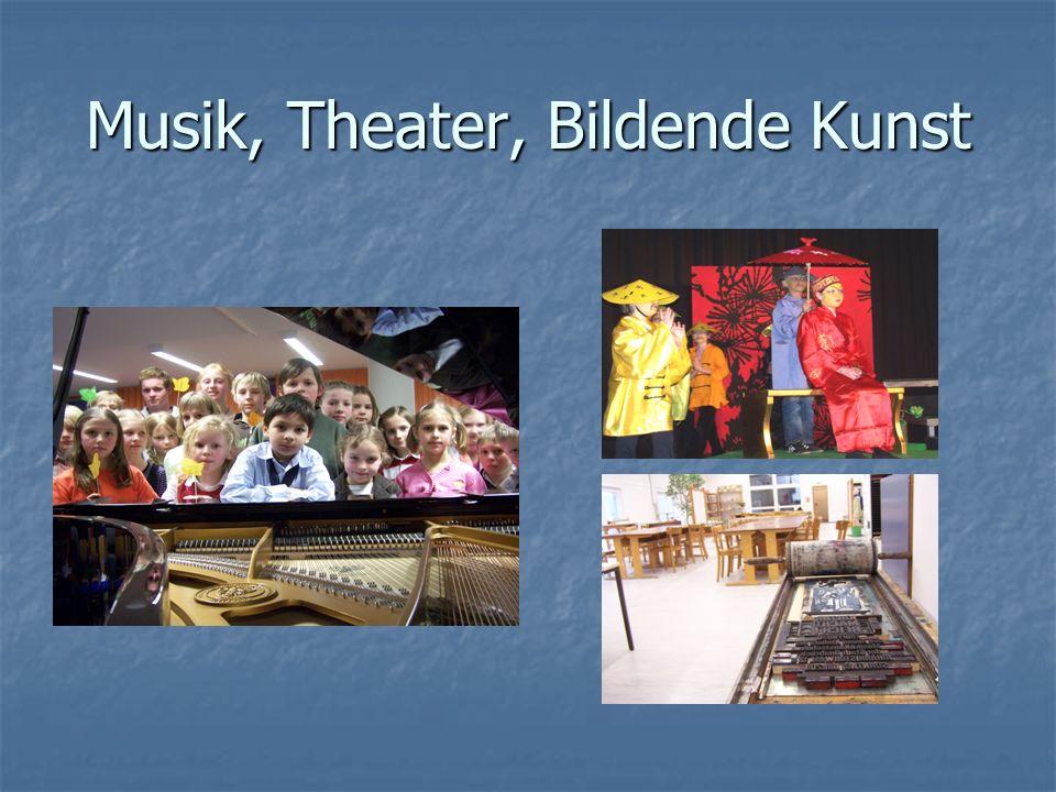 Musik, Theater, Bildende Kunst