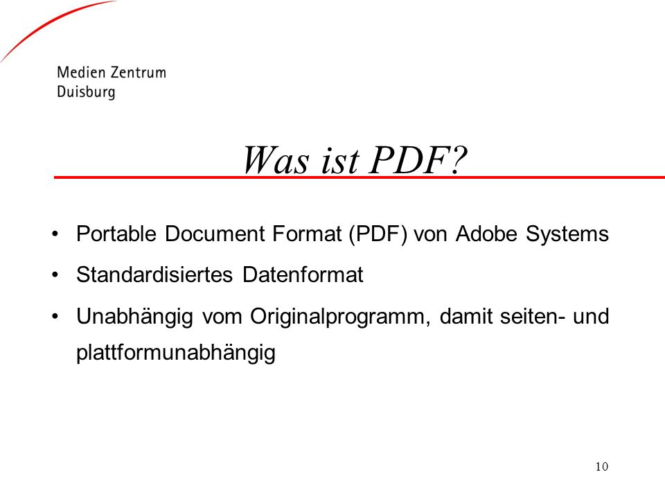 Was ist PDF Portable Document Format (PDF) von Adobe Systems