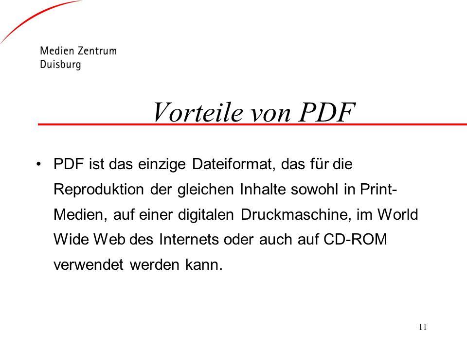 Vorteile von PDF