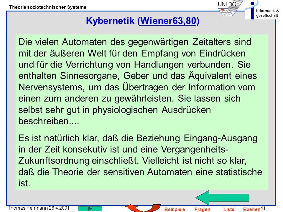 Kybernetik (Wiener63,80)
