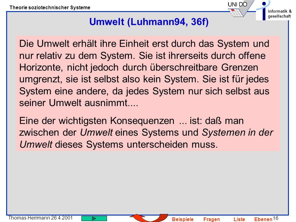 Umwelt (Luhmann94, 36f)