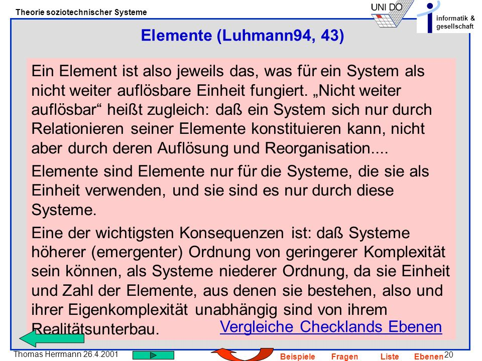 Elemente (Luhmann94, 43)