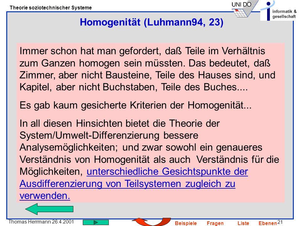 Homogenität (Luhmann94, 23)