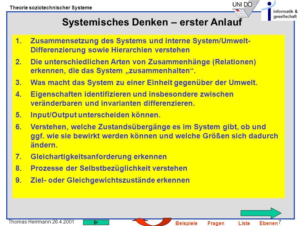 Systemisches Denken – erster Anlauf