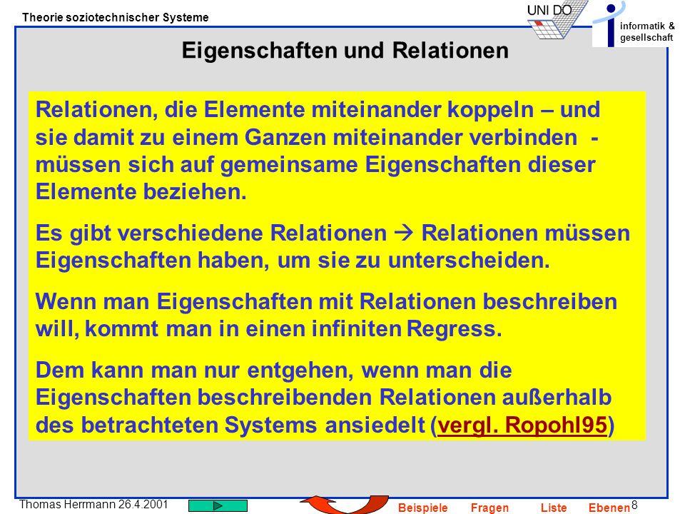 Eigenschaften und Relationen