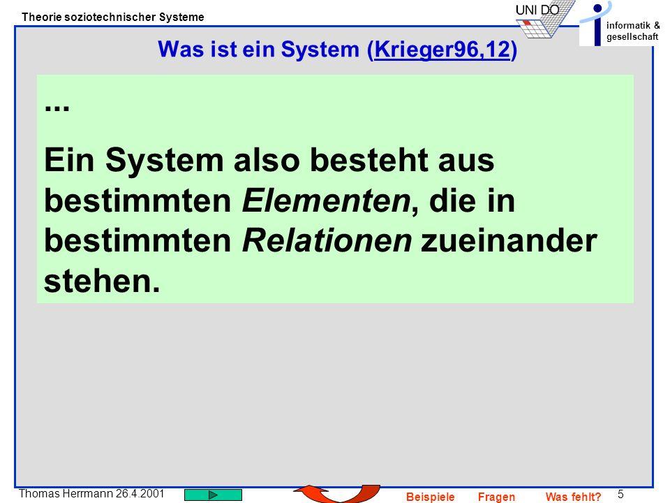 Was ist ein System (Krieger96,12)