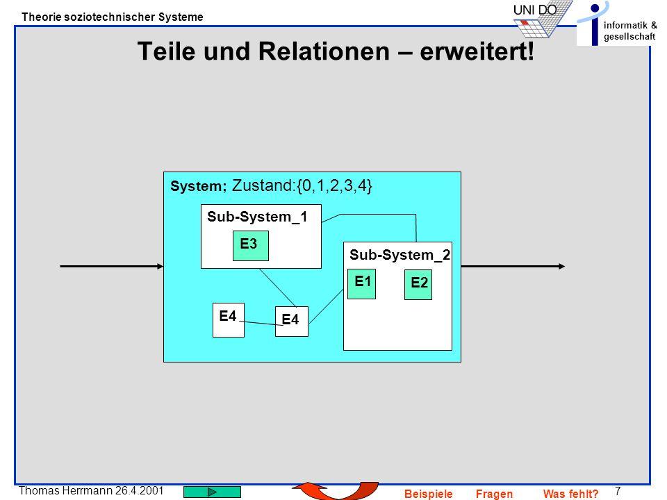 Teile und Relationen – erweitert!