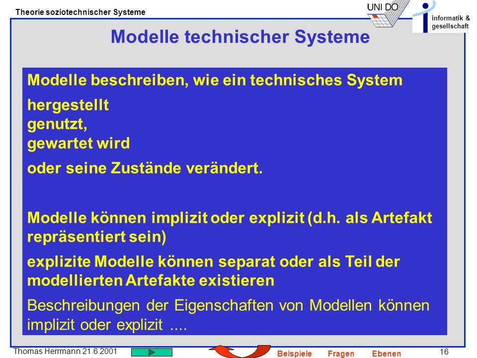 Modelle technischer Systeme
