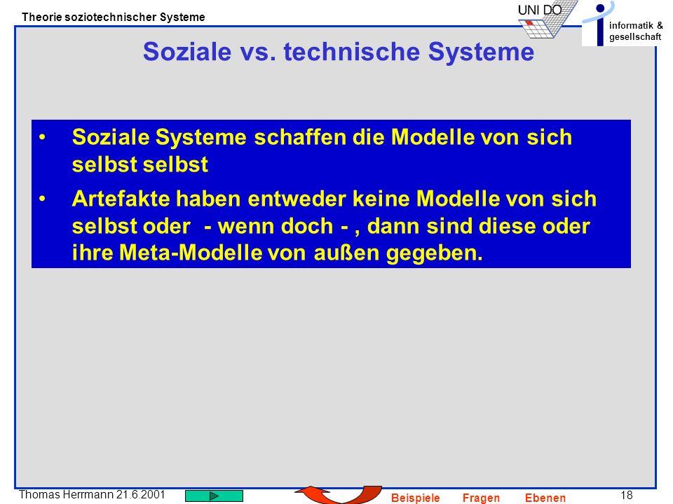 Soziale vs. technische Systeme