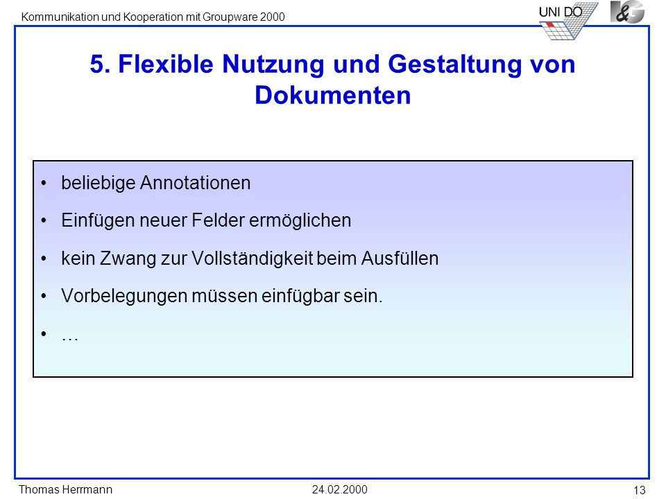 5. Flexible Nutzung und Gestaltung von Dokumenten