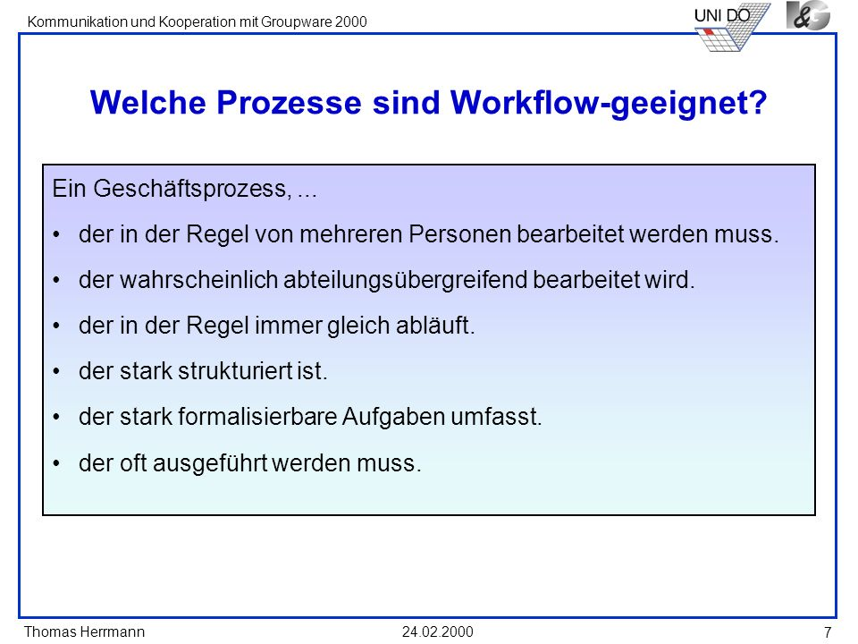 Welche Prozesse sind Workflow-geeignet