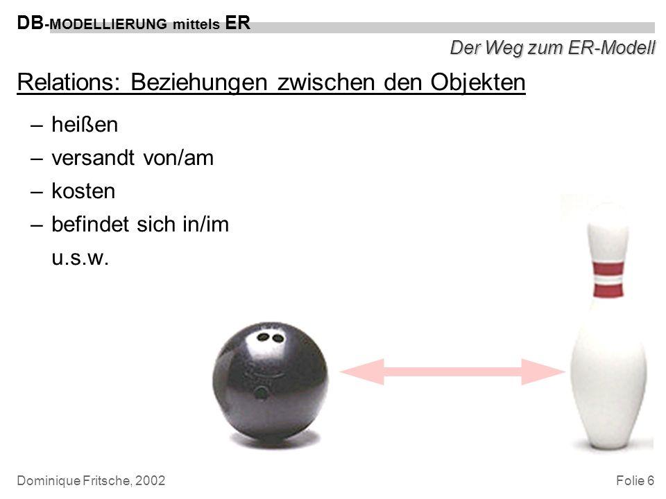 Relations: Beziehungen zwischen den Objekten