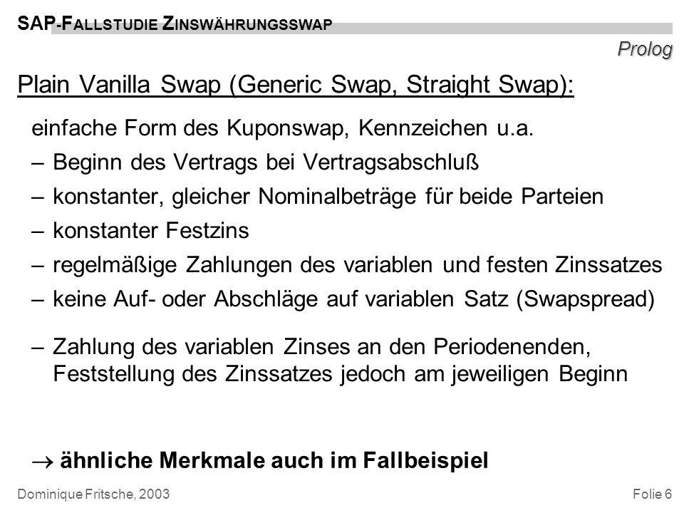 Plain Vanilla Swap (Generic Swap, Straight Swap):