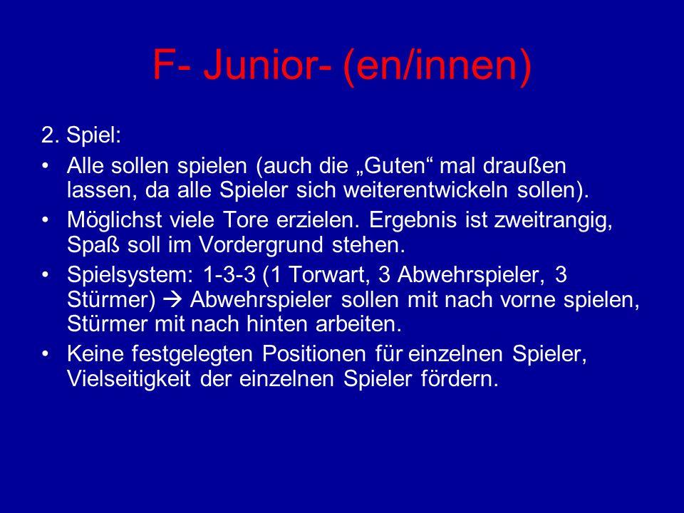 F- Junior- (en/innen) 2. Spiel: