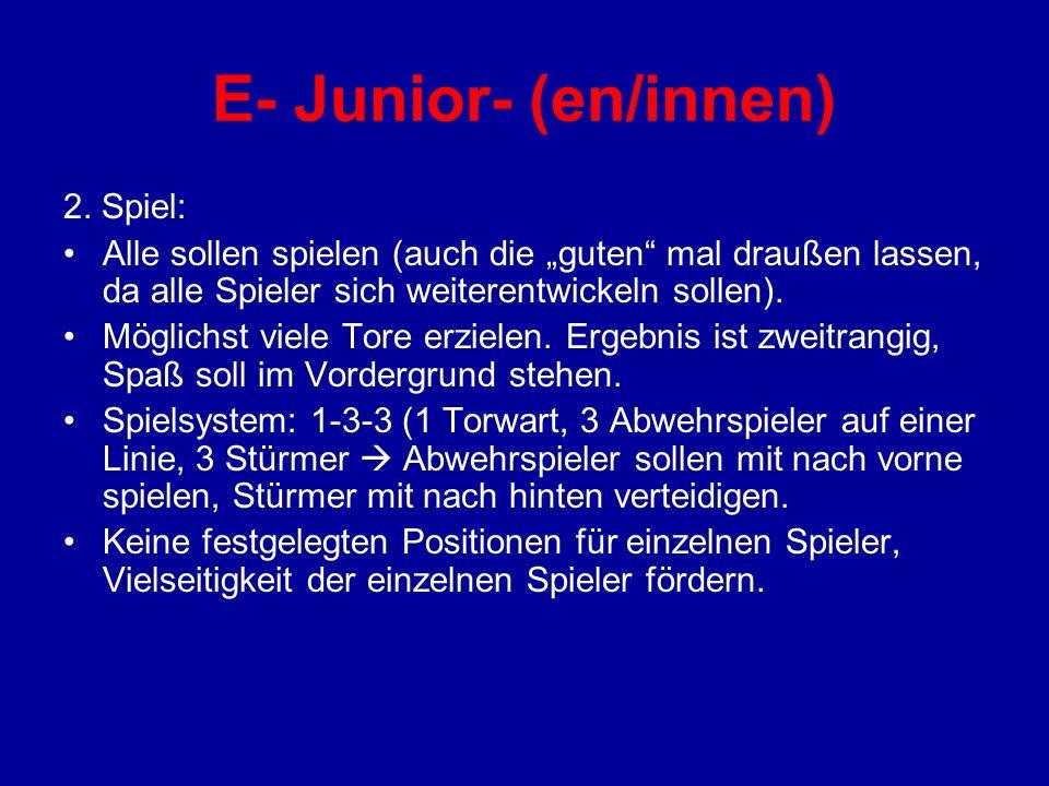 E- Junior- (en/innen) 2. Spiel: