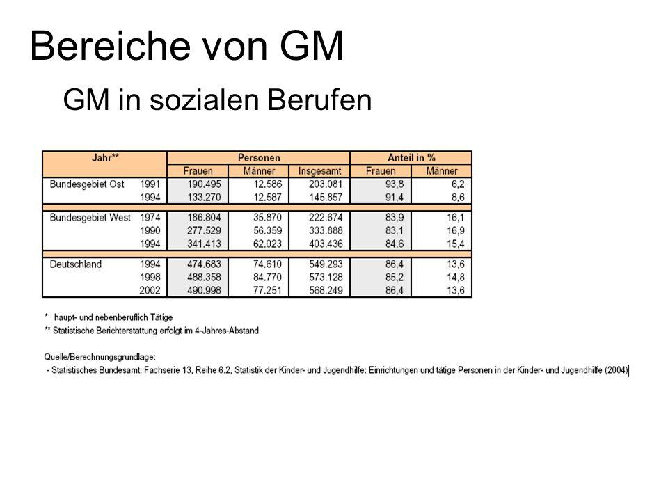 Bereiche von GM GM in sozialen Berufen Folie 1: alle Folie 2: Steffi