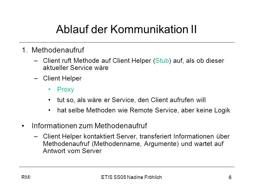 Ablauf der Kommunikation II