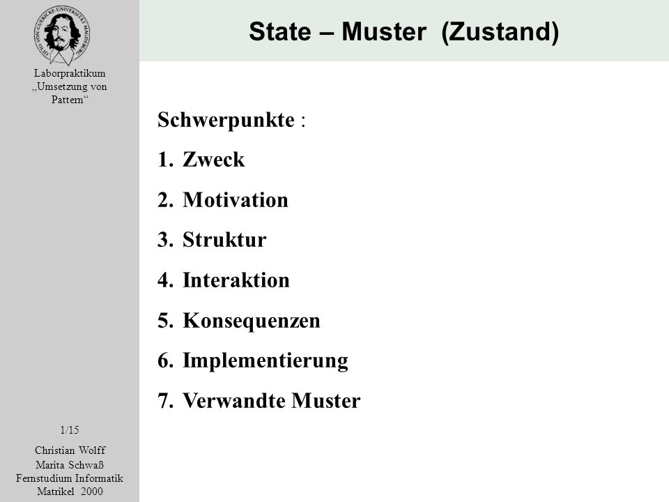 State – Muster (Zustand)