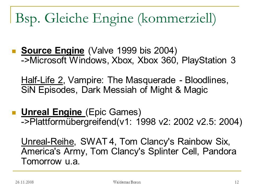 Bsp. Gleiche Engine (kommerziell)