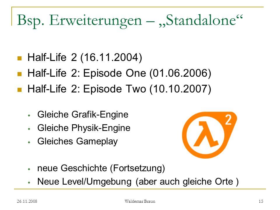 """Bsp. Erweiterungen – """"Standalone"""