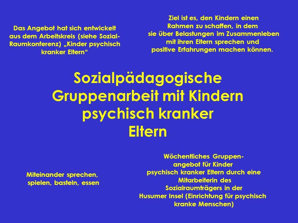 Sozialpädagogische Gruppenarbeit mit Kindern psychisch kranker Eltern