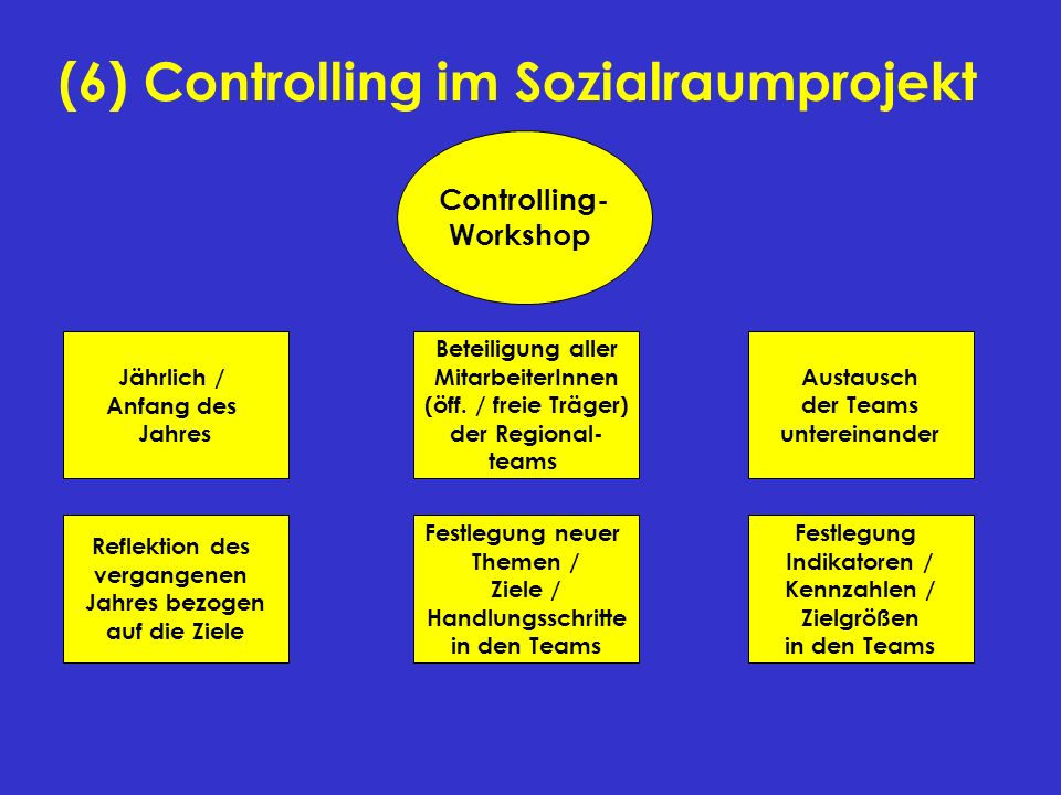 (6) Controlling im Sozialraumprojekt
