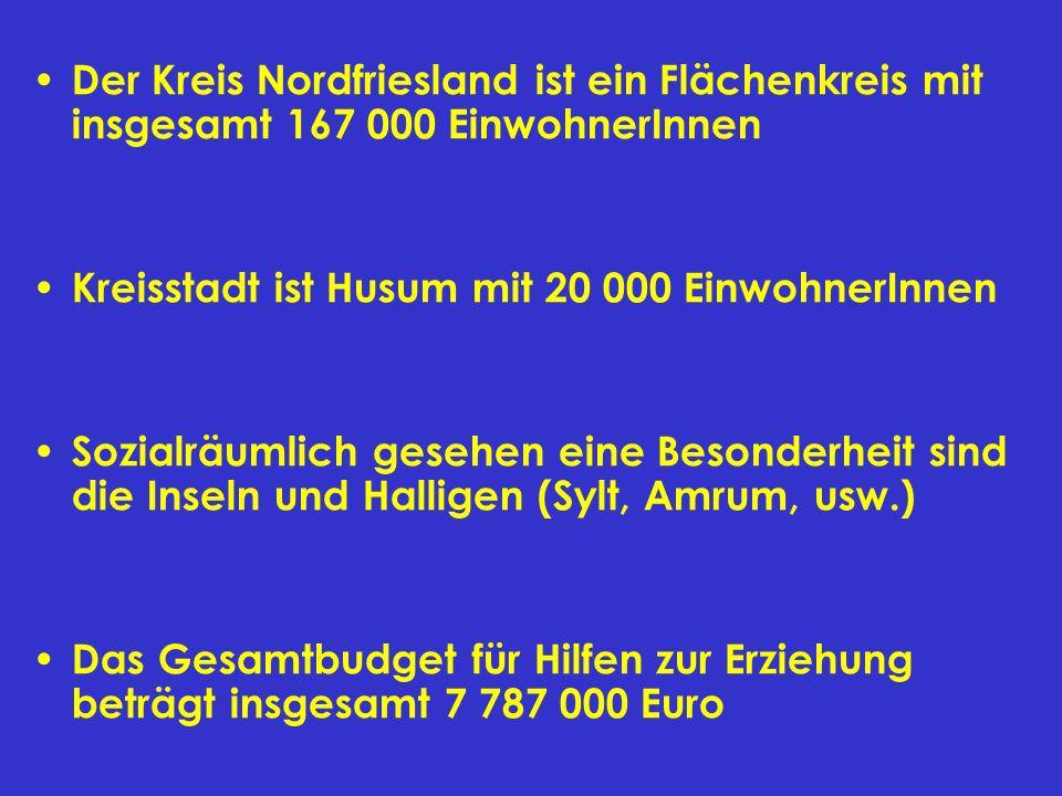 Der Kreis Nordfriesland ist ein Flächenkreis mit insgesamt 167 000 EinwohnerInnen