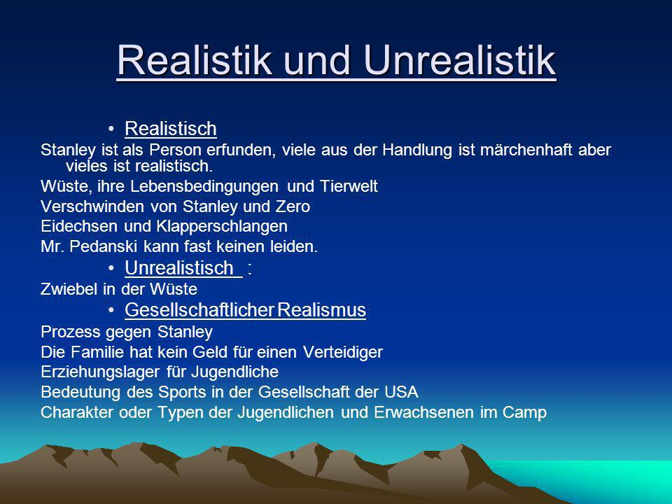 Realistik und Unrealistik