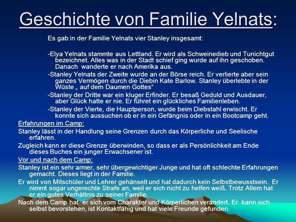 Geschichte von Familie Yelnats: