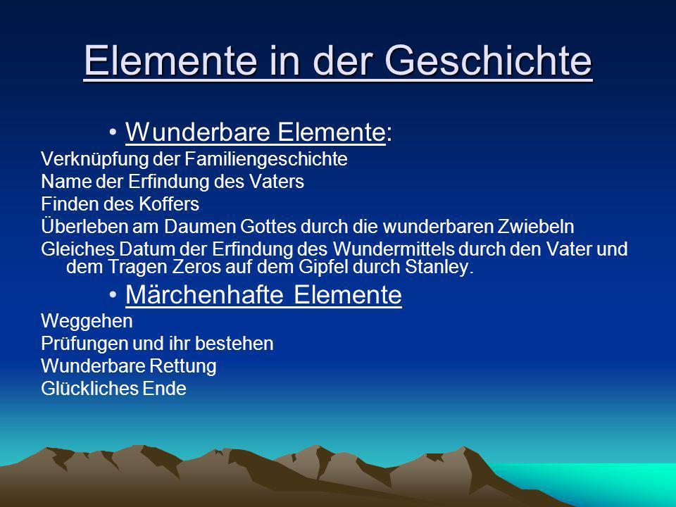Elemente in der Geschichte