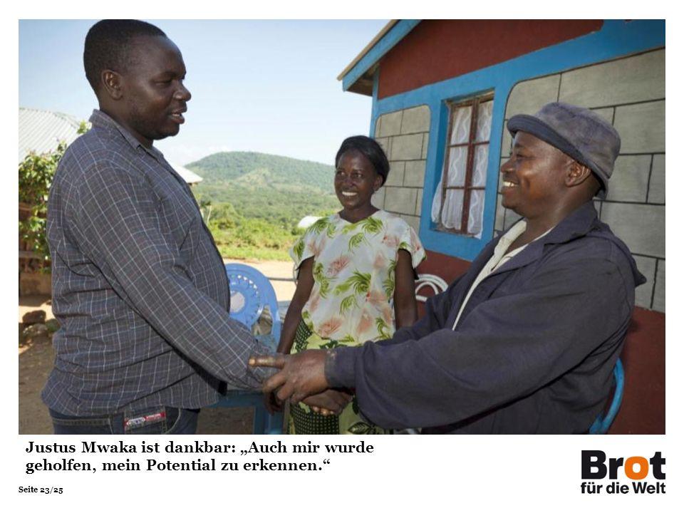 """Justus Mwaka ist dankbar: """"Auch mir wurde geholfen, mein Potential zu erkennen."""