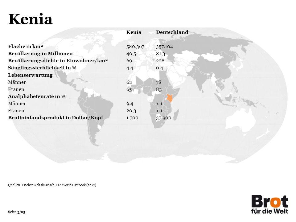Kenia Kenia Deutschland Fläche in km² 580.367 357.104
