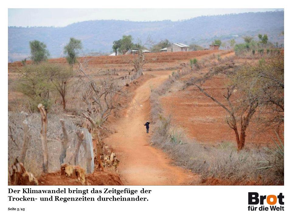 Der Klimawandel bringt das Zeitgefüge der Trocken- und Regenzeiten durcheinander.