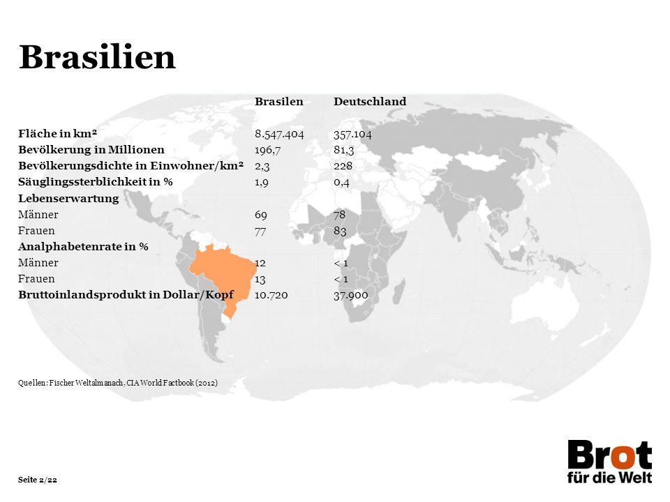 Brasilien Brasilen Deutschland Fläche in km² 8.547.404 357.104