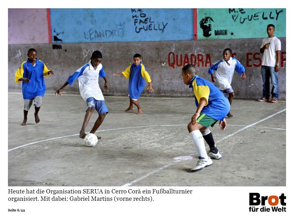 Heute hat die Organisation SERUA in Cerro Corà ein Fußballturnier organisiert.