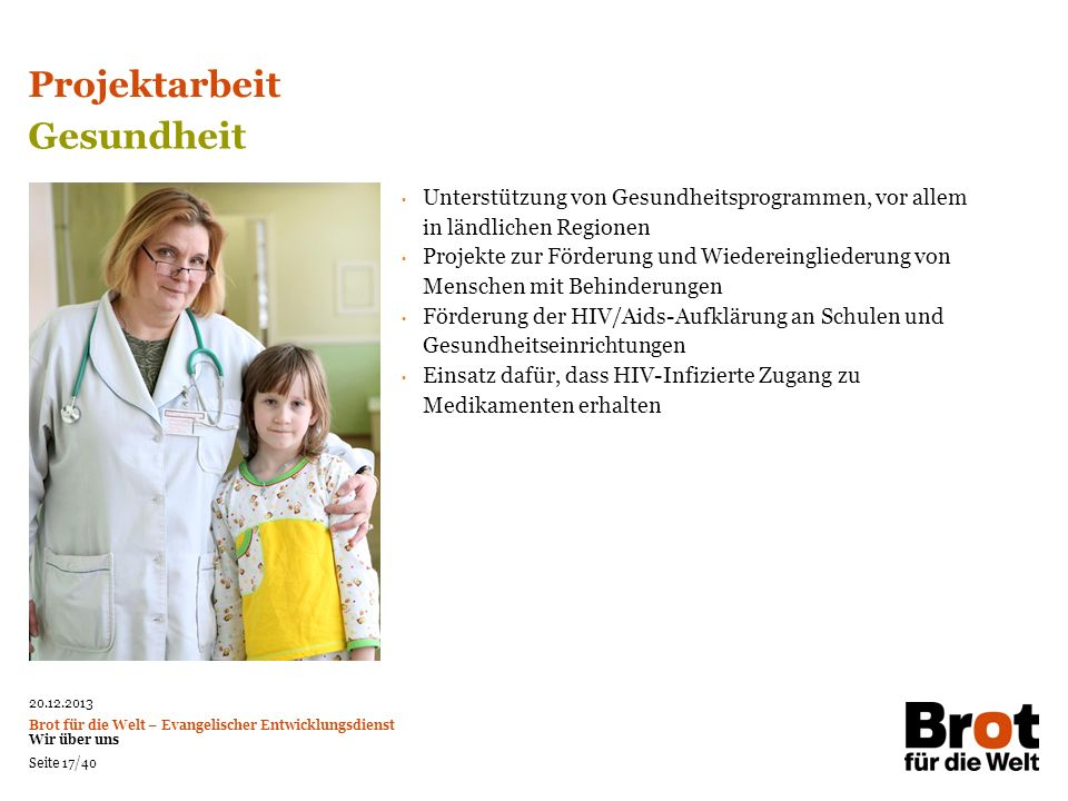 Projektarbeit Gesundheit