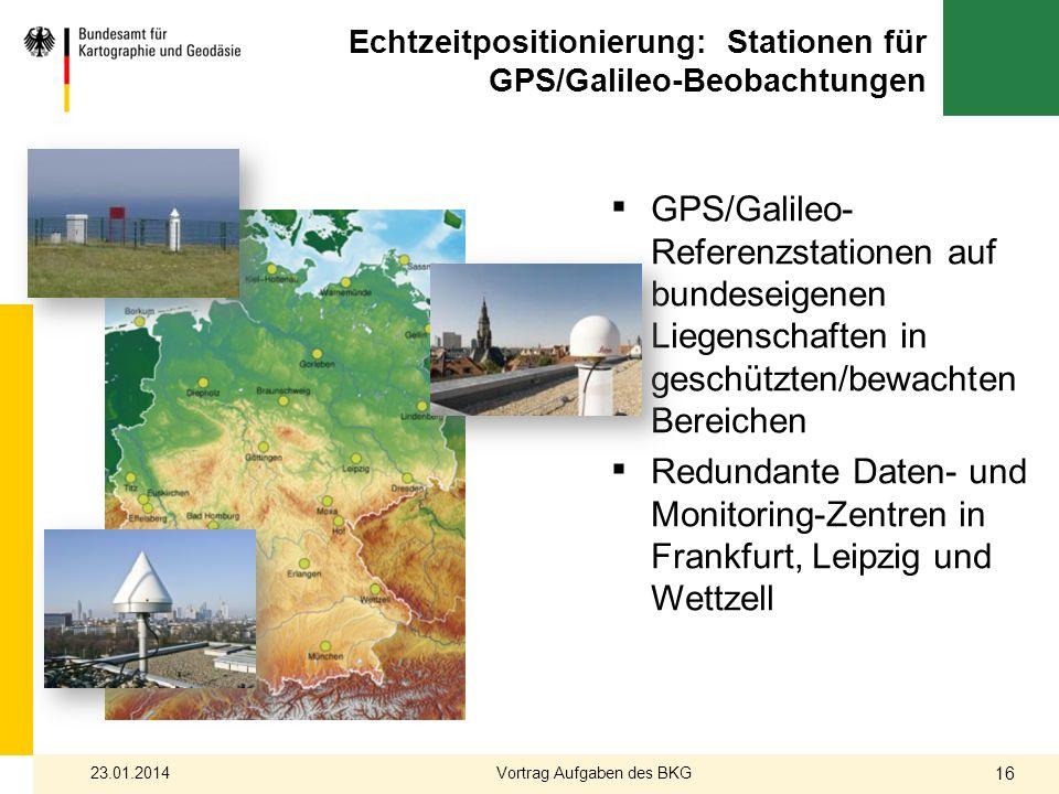 Echtzeitpositionierung: Stationen für GPS/Galileo-Beobachtungen