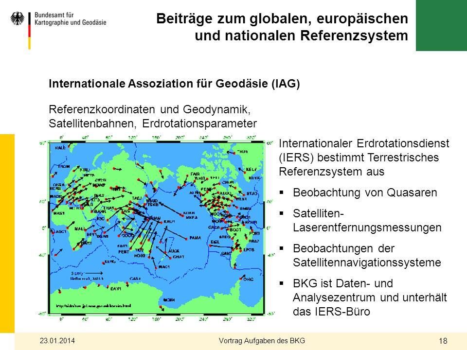 Beiträge zum globalen, europäischen und nationalen Referenzsystem
